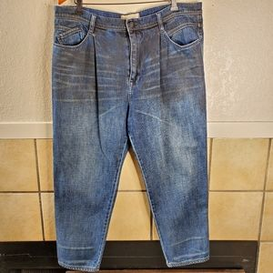 Free People pleated front cropped jeans Size 30